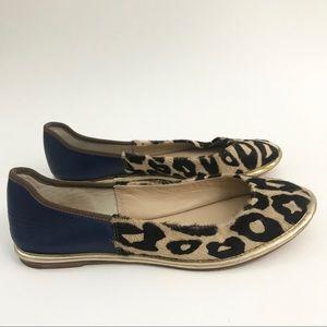 Diane von Furstenberg Leopard Leather Flats 6.5
